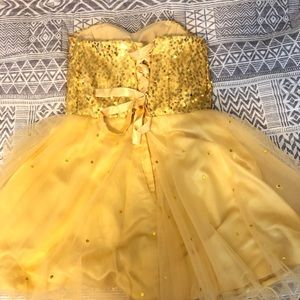 Gold dress Homecoming S